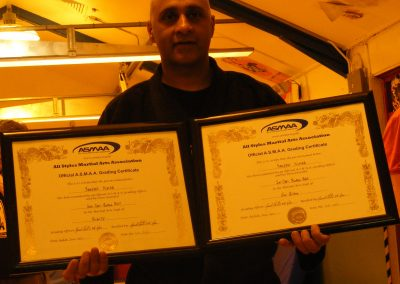 Sanji with his awards from SJA